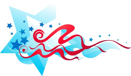 Abstract stars and stripes banner
