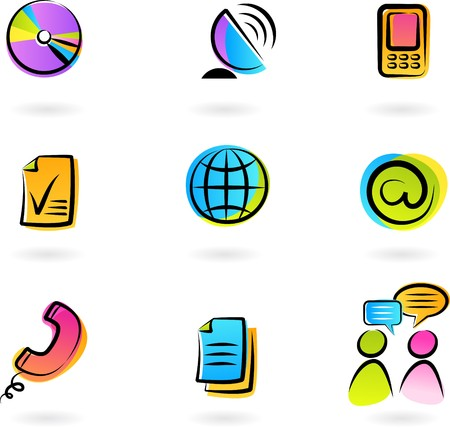 Photo for Collection of colorful  communication icons - 2 - Royalty Free Image