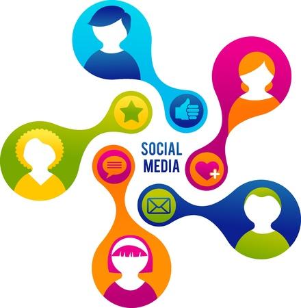 Illustration for Social Media and network illustration - Royalty Free Image