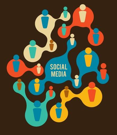 Illustration pour Social Media and network illustration - image libre de droit