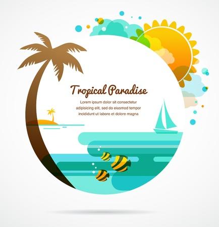 Ilustración de tropical paradise - Imagen libre de derechos