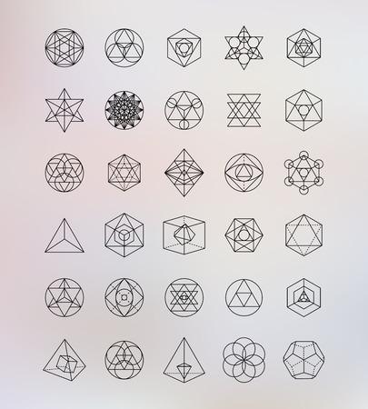 Ilustración de Sacred geometry. Alchemy, hipster symbols - Imagen libre de derechos