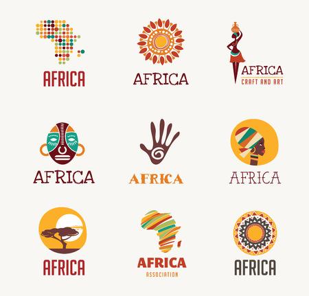 Illustration pour Africa and Safari elements and icons - image libre de droit