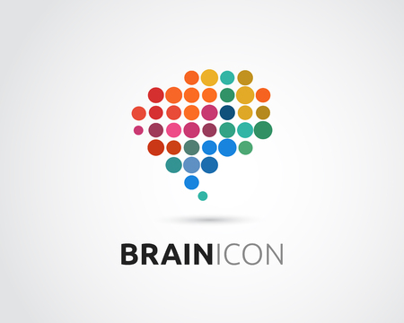 Ilustración de Brain, smart, Creative mind, learning and design icons. Man head, people colorful symbol - Imagen libre de derechos