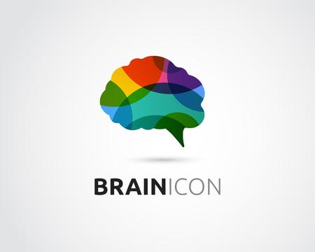 Illustration pour Brain, smart, Creative mind, learning and design icons. Man head, people colorful symbol - image libre de droit