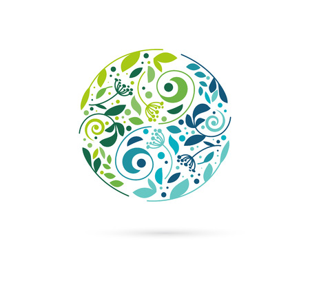 Vektor für Alternative, Chinese medicine and wellness, yoga, zen meditation concept - vector yin yang icon, logo - Lizenzfreies Bild