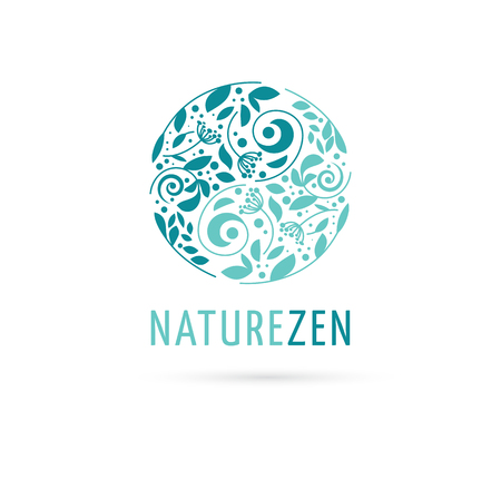Illustration pour Alternative, Chinese medicine and wellness, yoga, zen meditation concept - vector yin yang icon, logo - image libre de droit