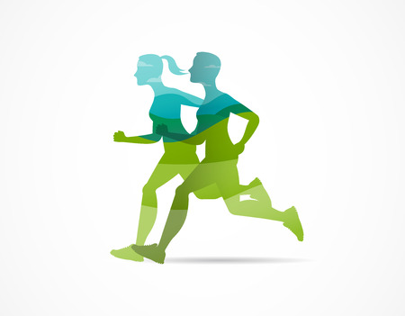 Ilustración de Run icon, symbol, marathon poster and logo - Imagen libre de derechos