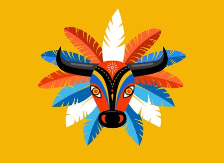 Illustration pour Carnaval de Barranquilla, Colombian carnival party. Vector illustration, poster and flyer - image libre de droit
