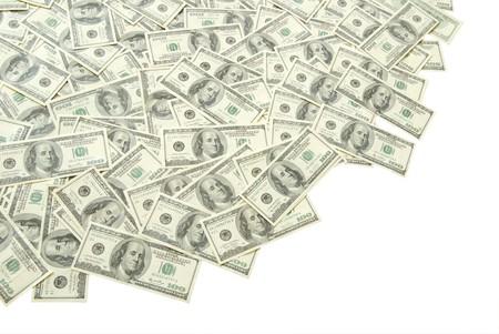 stack of money isolated on white background