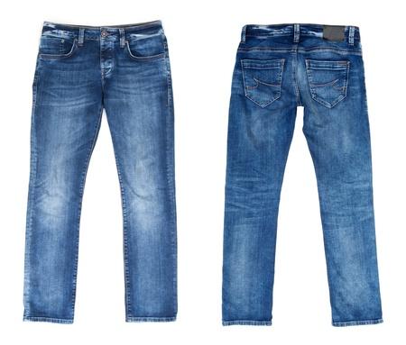 Foto de Blue Jeans Isolated on White - Imagen libre de derechos