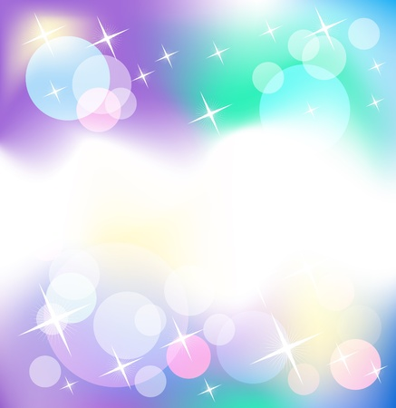 Glowing background with stars and transparent rounds