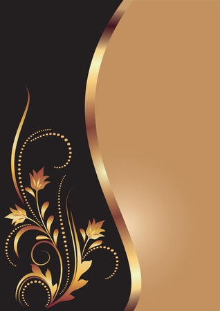 Illustration for Background with golden ornament for various design artwork - Royalty Free Image