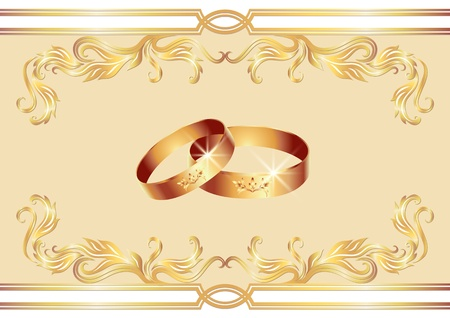 Card with wedding ring