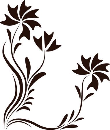 Decorative corner floral ornament