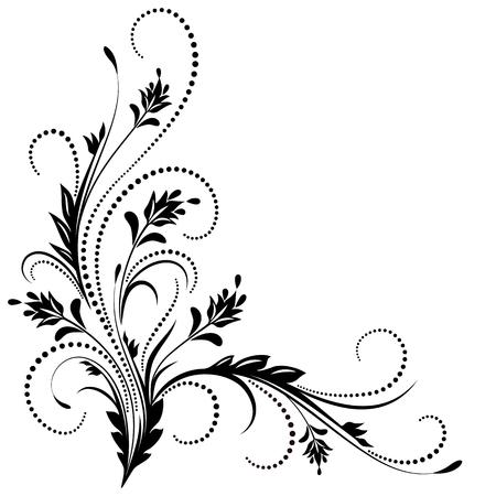 Illustration for Decorative corner ornament in retro style - Royalty Free Image