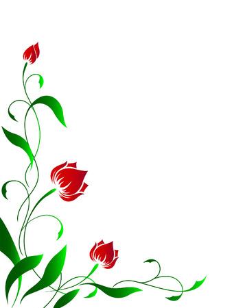 Flower angular pattern