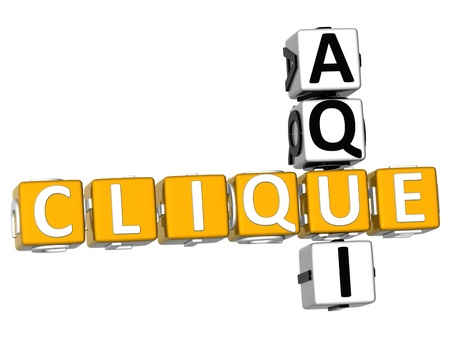 3D Clique Aqui Crossword on white background
