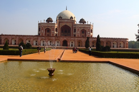 Humayun Tomb in New Delhi during the sunny day, India.