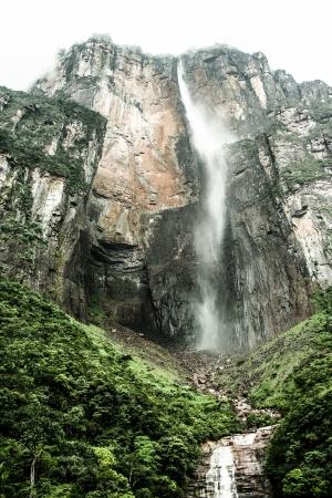 Angel Falls ( Salto Angel ) is worlds highest waterfalls (978 m) Venezuela ( HDR image )