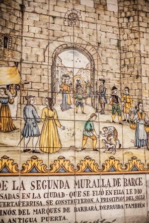 Ceramics in Barri Gotic in Barcelona