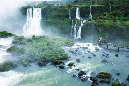 Iguassu Falls, the largest s