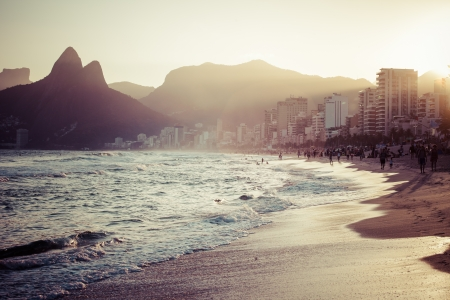 Ipanema Beach In The Evening