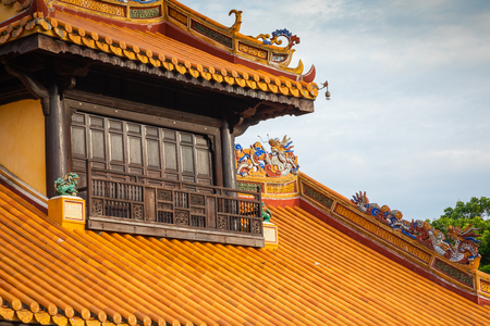 Imperial Royal Palace of Nguyen dynasty in Hue, Vietnam. Hue is one of the most popular destinations in Vietnam.