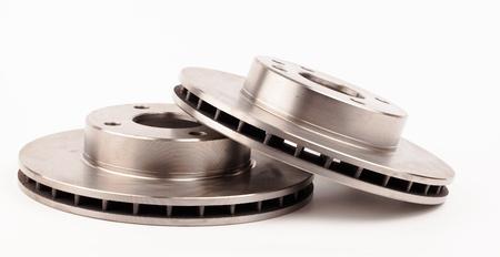 auto brake discs isolated on white