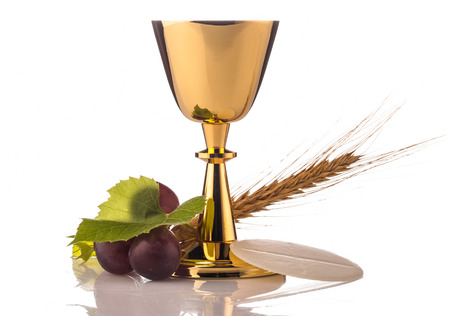 Photo for holy communion chalice isolated on white - Royalty Free Image