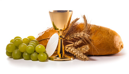holy communion chalice isolated on white