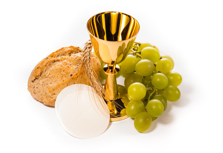 Photo for holy communion isolated on white - Royalty Free Image
