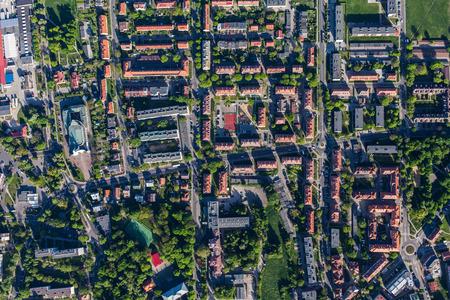 Photo pour aerial view of Olesnica city in Poland - image libre de droit