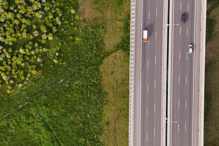 Photo pour aerial view of highway in Poland - image libre de droit