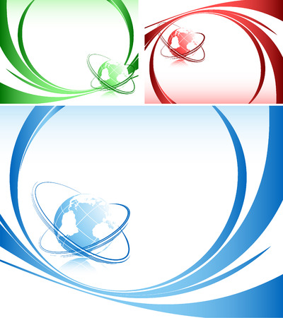 abstract   backgrounds with globe and lines