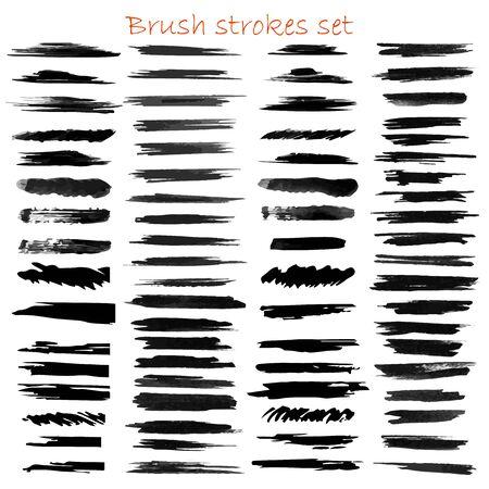 Illustration pour grungy hand made vector brush strokes big set. Elements for design. Eps10 - image libre de droit