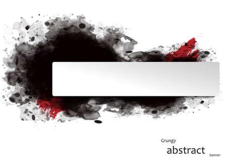 Illustration pour grungy abstract banner - image libre de droit