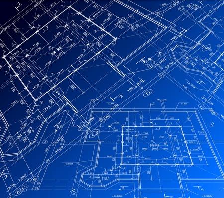 House plan. Vector blueprint