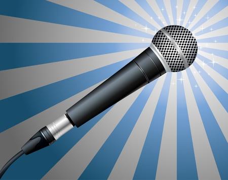 Illustrazione per Microphone. Vector illustration - Immagini Royalty Free