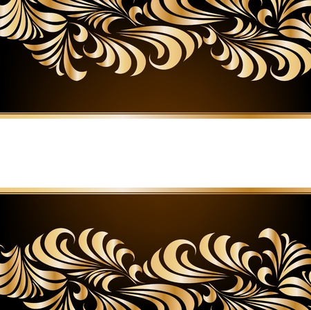 Illustration for Gold floral background - Royalty Free Image