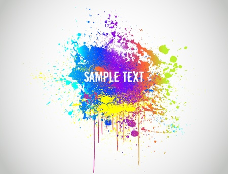 Illustration for Abstract Paint Splash Background  Vector illustration - Royalty Free Image