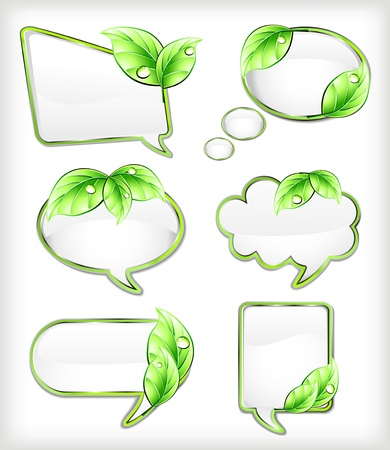 Banners with leaf  Vector illustration