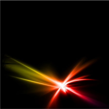 Abstract yellow and red rays lights. Vector illustration