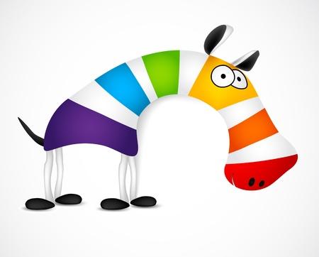 Photo pour Colored striped zebra. Vector illustration - image libre de droit
