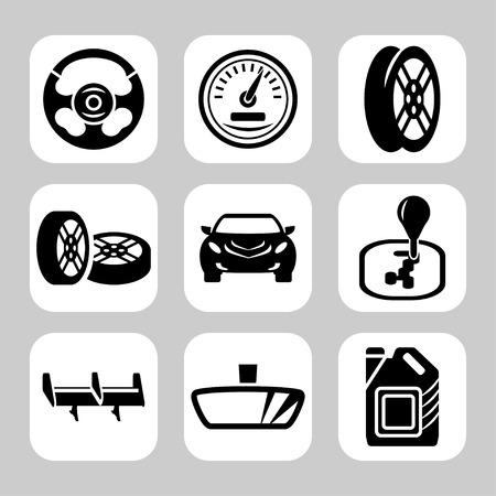 Car Parts Vector Icon Set Royalty Free Vector Graphics