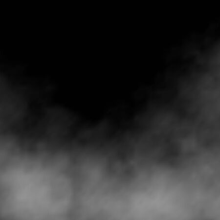 Illustration pour Clouds, white fog, smog on black background. Vector effect mist and smoke. - image libre de droit