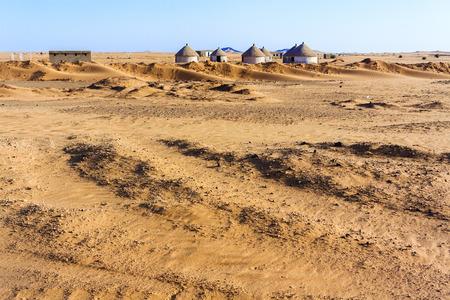 Nubian village on the way from Dongola to Khartoum in Sahara desert