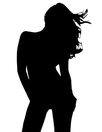 Sexy silhouette of young girl