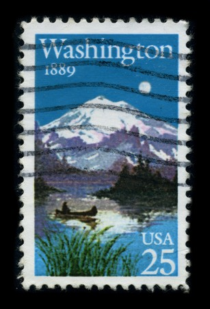 USA - CIRCA 1989: A stamp dedicated to the Washington, D.C., formally the District of Columbia and commonly referred to as Washington, the District, or simply D.C., is the capital of the United States, circa 1989.