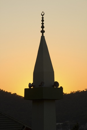 Mosque in silhouette